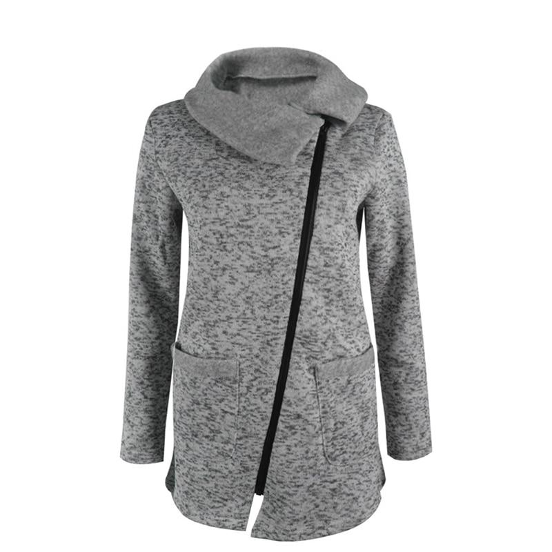 Plus Size 5XL Women Autumn Winter Clothes Warm Fleece Jacket Slant Zipper Collared Coat Lady Clothing Female Jacket