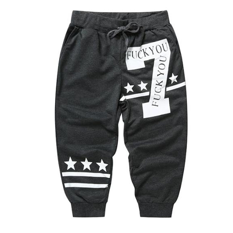 High quality 2019 Summer new digital five pointed star Number7 print trousers stripes Beam foot trousers casual harem sweatpants in Casual Shorts from Men 39 s Clothing