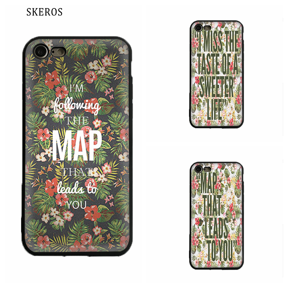 SKEROS Maroon 5 Maps Silicone TPU Phone Soft Cover For Apple Iphone X 5 5S Se 6 6S 7 8 6 Plus 6S Plus 7 Plus 8 Plus #ua143