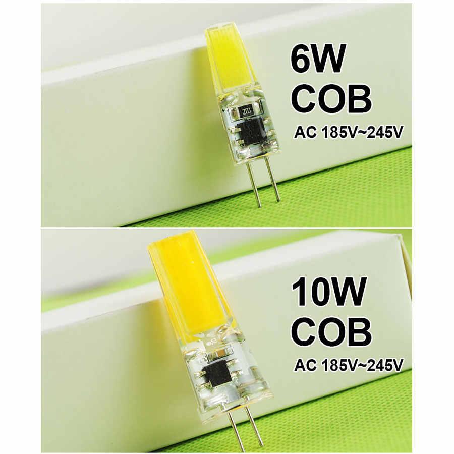 Pode ser escurecido 12 V/220 V Mini G4 CONDUZIU a Lâmpada COB Lâmpada LED 4W 6W 10W AC DC LEVOU G4 Lustre Substituir Halogênio Luz Lampada Bombilla Ampola