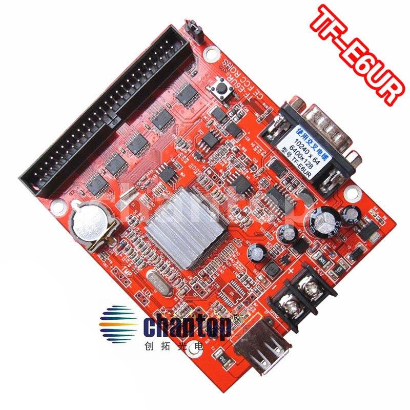 ФОТО TF-E6UR large area RS232 and USB communication 1024*256 pixels single&dual color led controller card
