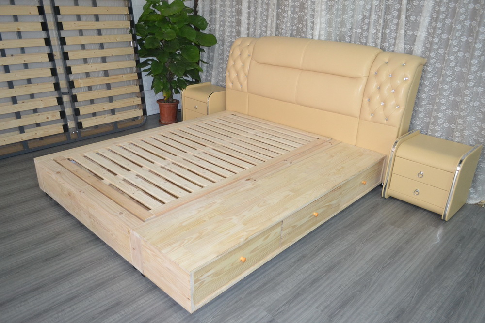 Cabecero Cama Suave Cama Muebles de Dormitorio Moderno Cama Suave Cama