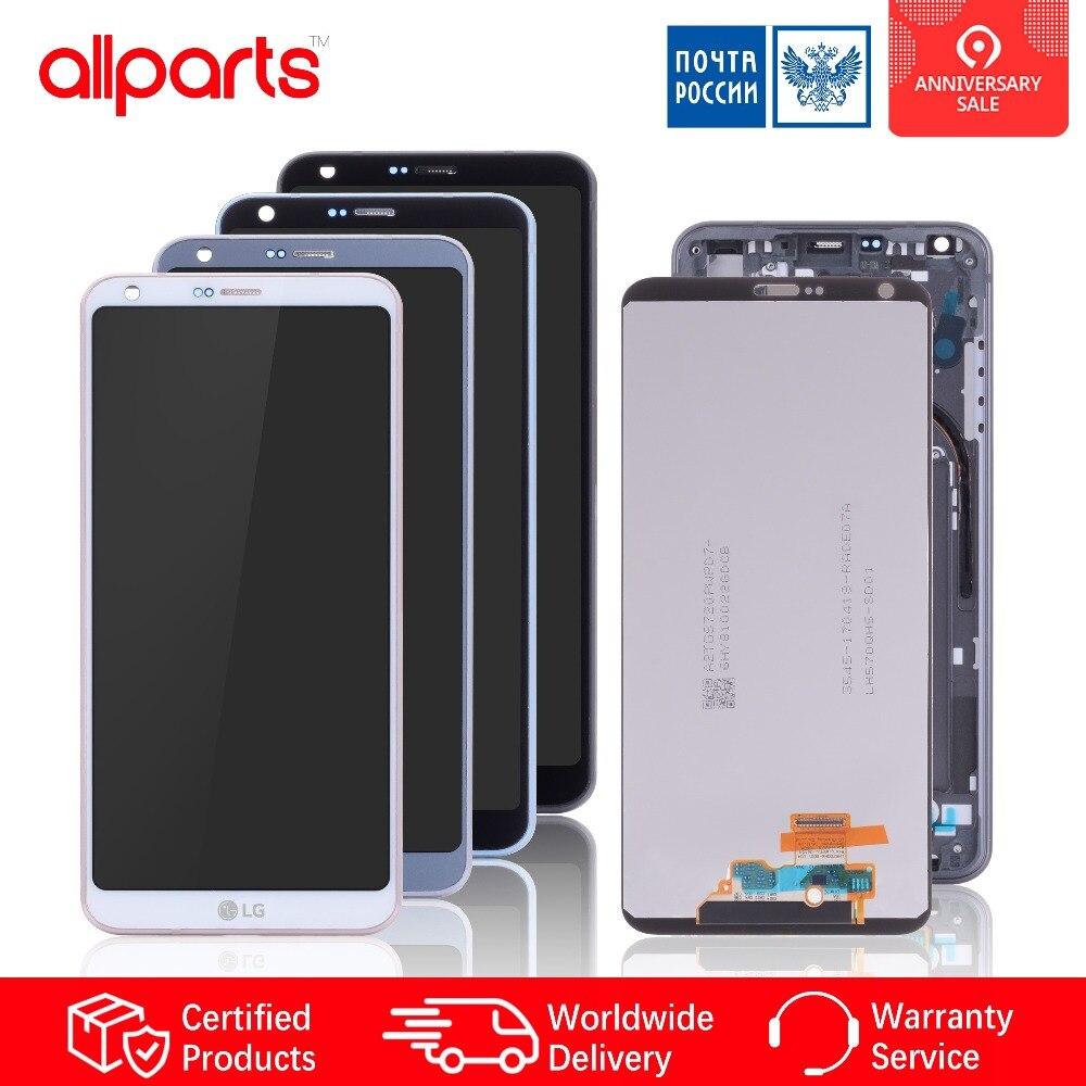 Дисплейдля LG G6 LCD H870 H870DS H872 LS993 VS998 US997 всборестачскриномнарамкеОригиналчерный золотой белый платиновый