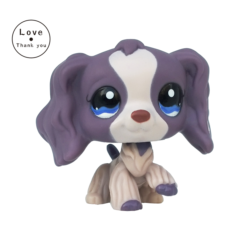 Rare SPANIEL style Childrens Collection of figure lovely dog pet pet toy Kids gift Yellow dog blue eyes #1209 cute pet rare color sausage short hair dog action figure girl s collection classic anime christmas gift lps doll kids toys
