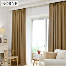 NORNE Solid Heavy Thermal Insulated Blackout Curtain Curtains Window for Bedroom Living Room,Curtain impedes 80% light and UV