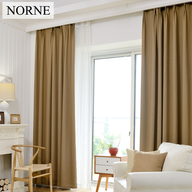 NORNE Solid Heavy Thermal Insulated Blackout Curtain Curtains Window For Bedroom Living RoomCurtain Impedes