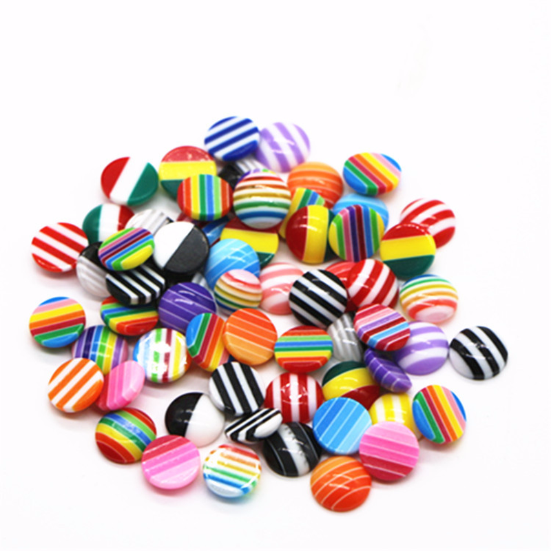 100pcs/Lot 8mm Mix Colors Flat back Resin Classic Stripes Cabochons Fit 8mm Cameo Base Cabochons For diy jewelry finding100pcs/Lot 8mm Mix Colors Flat back Resin Classic Stripes Cabochons Fit 8mm Cameo Base Cabochons For diy jewelry finding