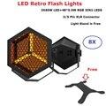 8 шт.  сценический эффект  светодиодный светильник 3X60W S + 48X0.5W  RGB 3IN1  DMX  плоский прожектор  светодиодный  ретро  вспышка  Dj  эффект стирки