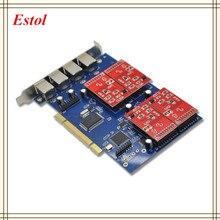 NUEVA tarjeta TDM410P Asterisk PCI con puertos FXS/FXO tarjeta de teléfono analógica Asterisk/Trixbox/Elastix/Freeswitch IP PBX 4FXS/FXO