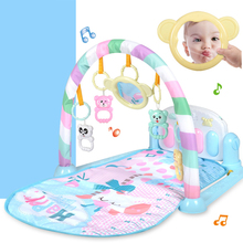 лучшая цена 3 in 1 Educational Toys Baby Play Mat Kids Rug Educational Puzzle Carpet With Piano Keyboard And Cute Animal Playmat Baby Gym
