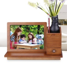 Wooden photo frame creative European retro style wedding with pen holder