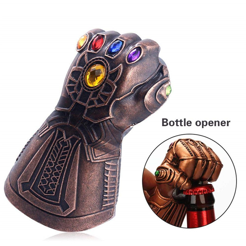 Zinc Alloy Infinity Thanos Gauntlet Glove Beer Bottle Opener Creative Soda Glass Cap Remover Tools For Kitchen Bar Fashion Gifts