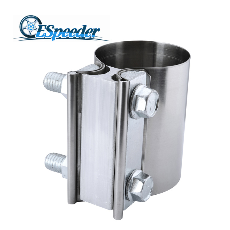ESPEEDER Universal 2.0 2.25 2.5 3.0 4.0 Inch Stainless Steel Butt Joint Exhaust OD Pipe Sleeve Clamp Free ShippingESPEEDER Universal 2.0 2.25 2.5 3.0 4.0 Inch Stainless Steel Butt Joint Exhaust OD Pipe Sleeve Clamp Free Shipping