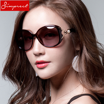 SIMPRECT Oversized Sunglasses Women Polarized Retro Big Square Sun Glasses Fashion Pearl Lunette De Soleil Femme UV400 YJ0663