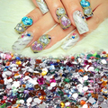 2000Pcs Shiny Nail Art Mixed Shape Flat Back Rhinestones Acrylic Diy Decoration09WG