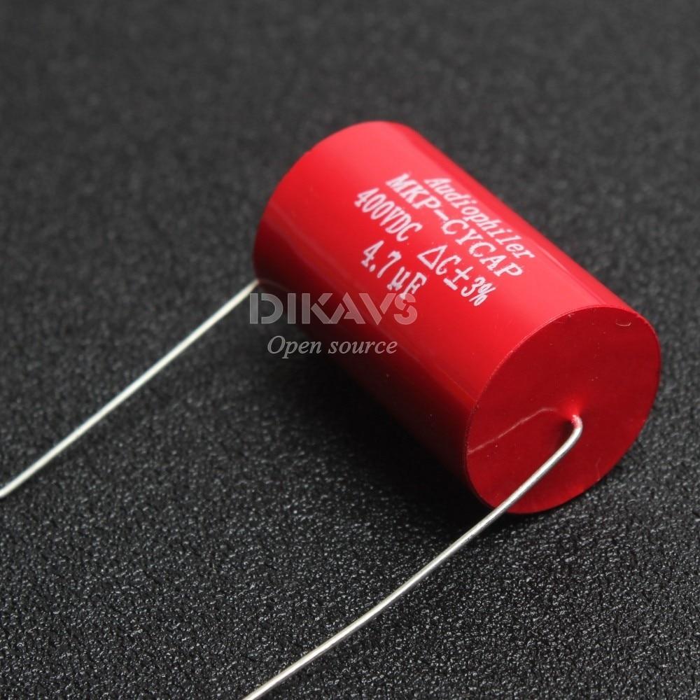 1Pcs Audiophiler Axial MKP 4.7uF 400v DC HIFI DIY Audio Grade Capacitor For Tube Guitar Amps