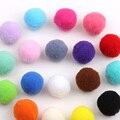 500 unids/lote aprox 23-25mm multi color artesanía pompón de piel diy suave pom poms decoración de la boda de accesorios