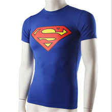 4001 Superman Batman Men Bodybuilding Fitness Compression Base Layers Thermal Under T-shirt Tops Top Skins Gear Wear Vest S-XXL