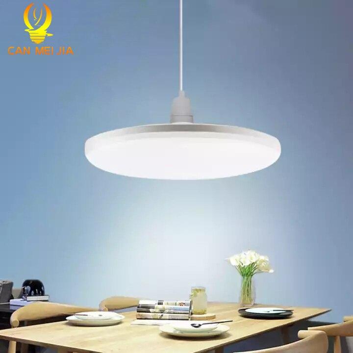 E27 bombilla Led, lámpara Led, lámpara de 60 W, 50 W, 40 W, 20 W, 15 W, iluminación, 220 V, foco UFO para hogar, lámpara de mesa, sala de estar Lámpara LED de noche con Sensor de movimiento PIR, lámpara LED de noche, lámpara de techo para sala de estar