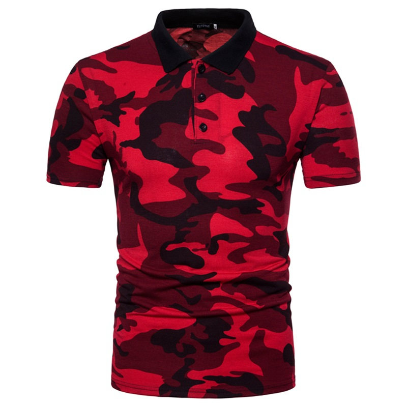 Europe size XXL Fashion Men'S   Polo   Shirt Casual Camouflage   Polo   Homme brand Clothing Men's shirt Slim Fit Cotton   Polo   Shirts