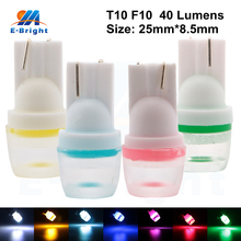 20pieces 40Lumens SMD T10 F10 1Led Bulb Indicator Light Car Side Marker Light Lighting Color White Yellow Red Blue Pink Ice Blue onlitop 1231447 р 30 33 blue yellow red