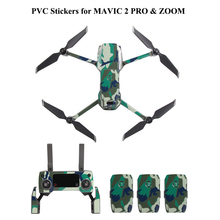 PVC Decorative Stickers Camouflage Skin for DJI MAVIC 2 PRO & ZOOM Cool Arms Decals Remote Controller Battery Wrap [m0012] camouflage for dji mavic pro decal skin sticker drone body remote controller 3 battery protection film cover