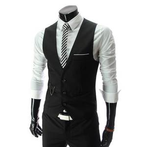 Oeak Dress Men Suit Vest Male Wedding Waistcoat Classic