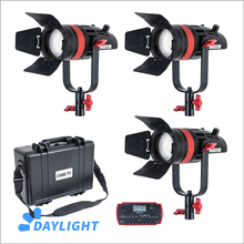 3 Pcs CAME TV Q 55W Boltzen 55w MARK II  High Output Fresnel Focusable LED Daylight Kit