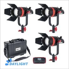 3 pçs CAME TV Q 55W boltzen 55w mark ii alta saída fresnel focusable led luz do dia kit