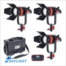 3 pièces CAME TV Q 55W Boltzen 55w MARK II haute sortie Fresnel focalisable LED Kit de lumière du jour