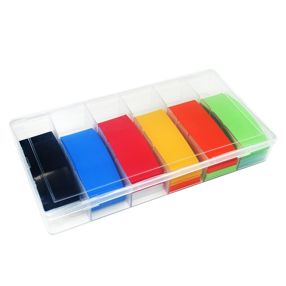 280 Pcs 8 Color 29.5MM 18.5MM PVC 18650 18500 Battery Heat Shrink Tubing Tube Shrink Film Assorted Kit with Storage Box Quality