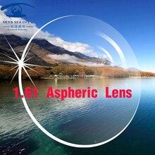 Céu & mar optica lentes personalizadas para olhos 1.61 índice lente asférica cr39 lentes de lentes de óculos ópticos de prescrição
