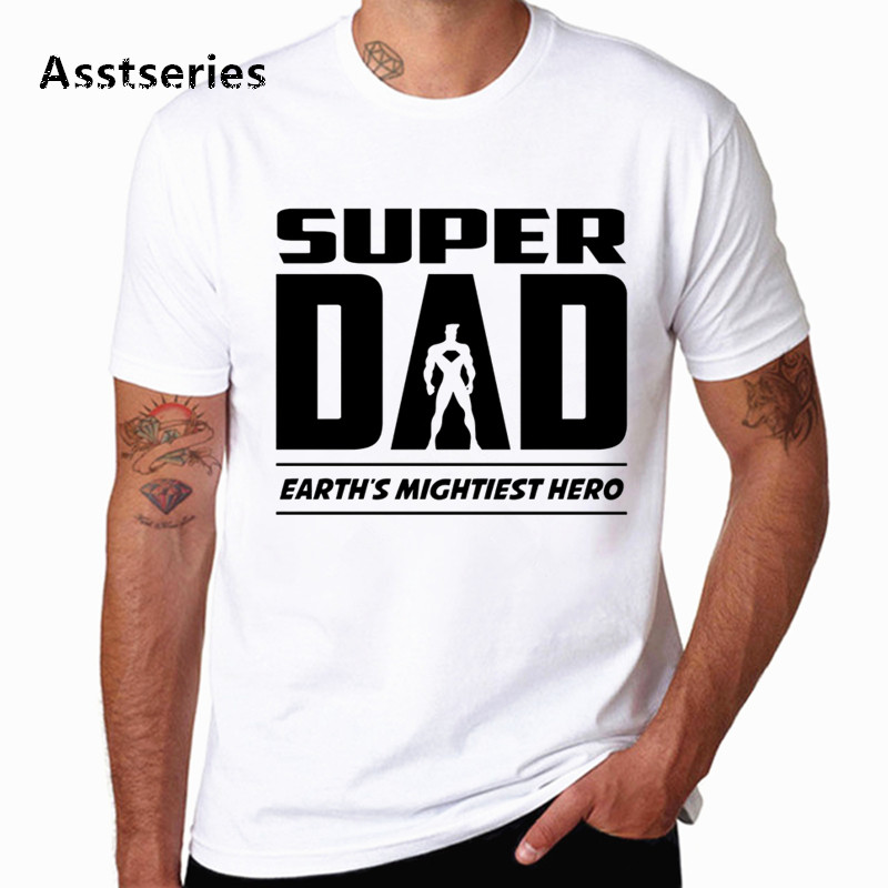 Man Father's Day Gift T Shirt Men Rock Super Dad Tops Tees Fashion Summer pop Tshirt fashion t-shirt Present Teens HCP6065 image