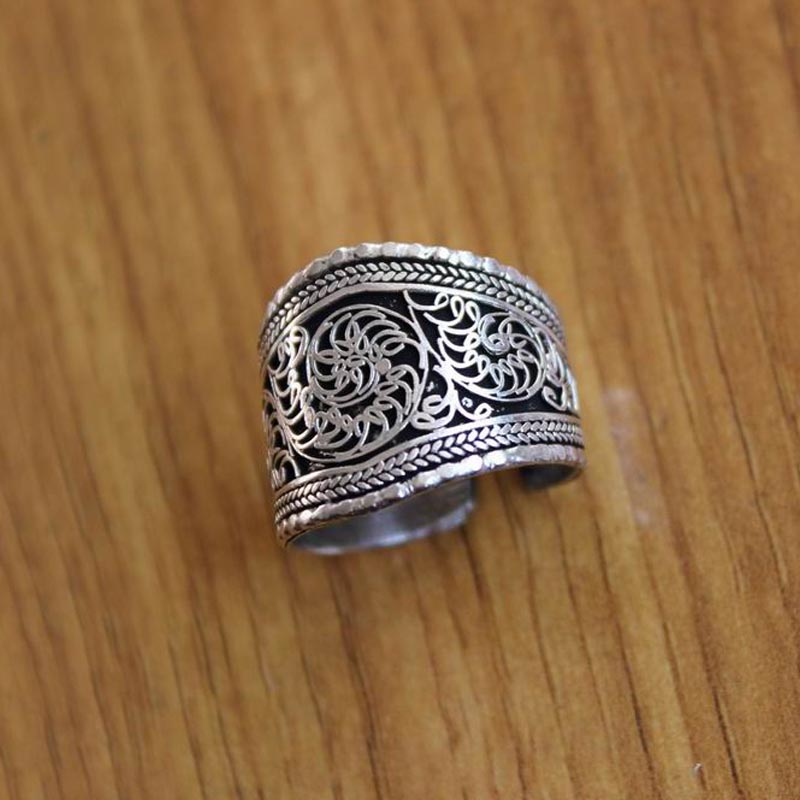 Vintage Tibetan Silver Open Adjustable Finger Ring Knuckle Rings Jewelry Gift*tr