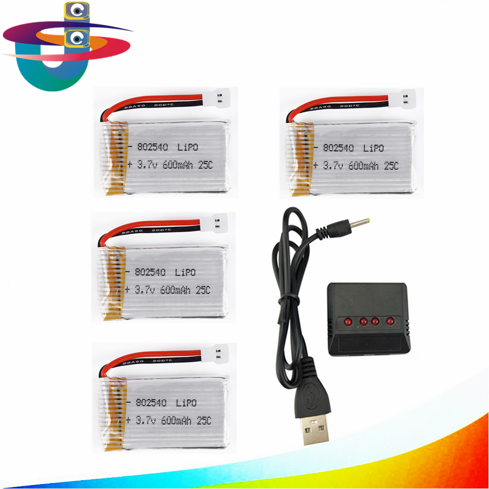 3.7V 600mAh 25C Capacity Lipo Battery 802540 with X4 Charger For Molex 50005 RC Quadcopter Drone free shipping ebike battery 48v 15ah lithium ion battery pack 48v for samsung 30b cells built in 15a bms with 2a charger free shipping duty