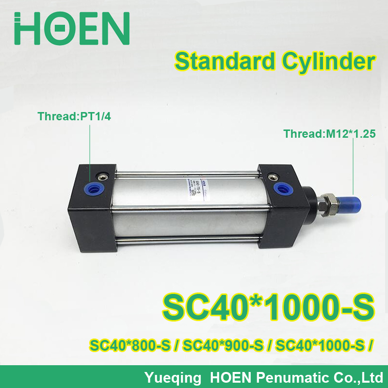 SC40*1000 S SC Series Single Rod Standard Pneumatic Air Cylinder SC40*800 S SC40*900 S