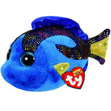 "Pyoopeo Ty Beanie Boos 10"" 25cm Aqua Blue Fish Plush Medium Soft Big-eyed Stuffed Animal Collectible Doll Toy with Heart Tag(China)"