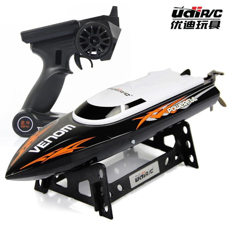 купить Udirc U001 2.4GHz RC Boat High Speed Remote Control Electric Boat 25km/h Best Gift недорого