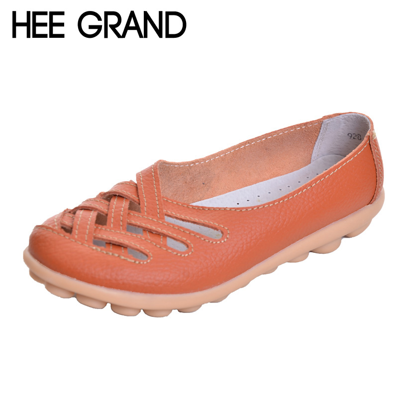 HEE GRAND Nest Hole Women Shoes For 2017 Summer Split Leather Comfort Flats Candy Color Shoes Woman For Mom Size 35-40 XWZ132 g126y 2pcs red led light 25 31mm spst 4pin on off boat rocker switch 16a 250v 20a 125v car dashboard home high quality cheaper