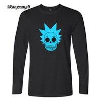 WANGCANGLI Rick And Morty T Shirts Print Cotton Tshirts Homme Women Men Long Sleeve Autumn Fashion