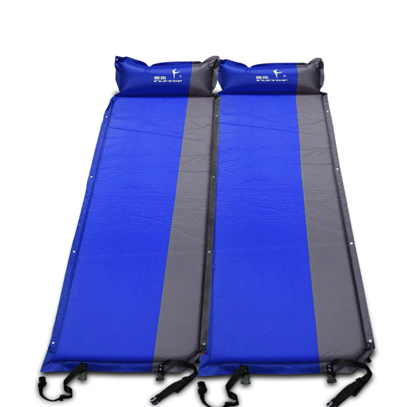 FLYTOP Self Inflating Sleeping Pad Outdoor Thicken Air Mattress Automatic Inflatable Camping Mat with Pillow 5cm wild outdoor naturehike self inflating sleeping pad with attached pillow compact lightweight air mattress for camping hiking
