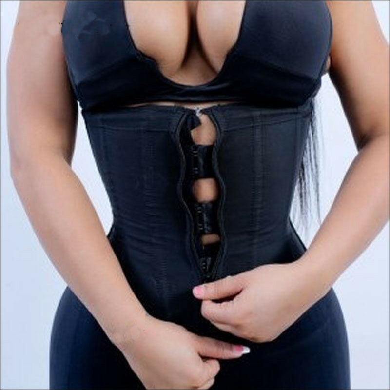 Corset Body Shaper Waist Trainer Underbust Zipper Slimming Cincher
