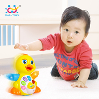 Huile Toys 808 Dancing Duck Battery Operated Toy Figure Action Toy With Flashing Lights Electric Universal