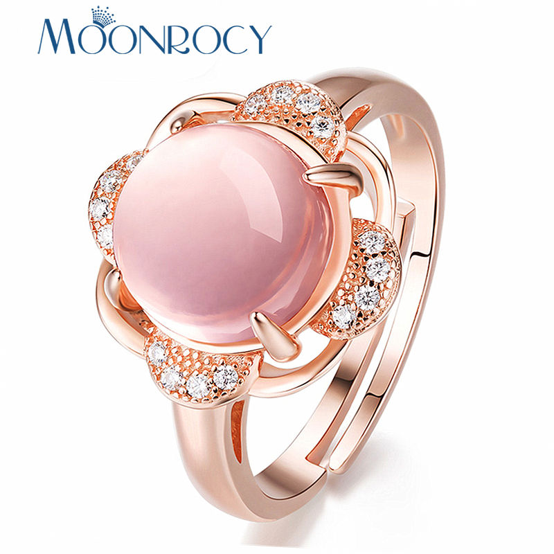 Aliexpress Com Buy Moonrocy Rose Gold Color Cz Ross