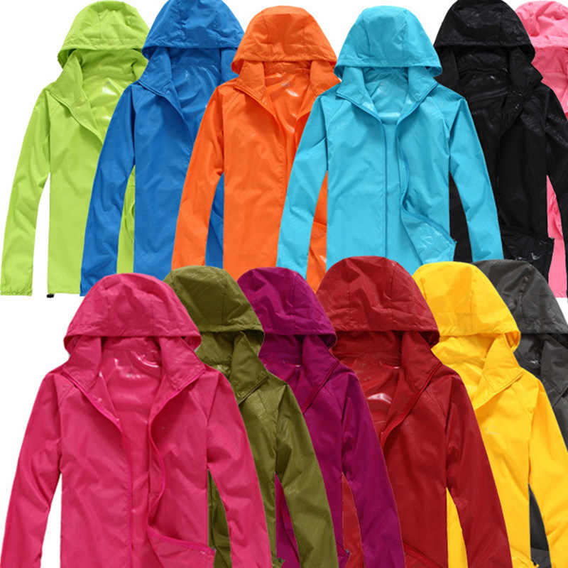 6f7a2fa92769 YSDNCHI Waterproof Camping Jackets Women Thin Hiking Hooded Jackets Quick  Dry Men Foldable Sun-protection