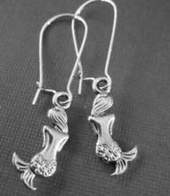 Design Silver Bijoux Mermaid Drop Earrings For Women Fashion Jewelry Dangle Earrings Statement Earrings Girls Gift