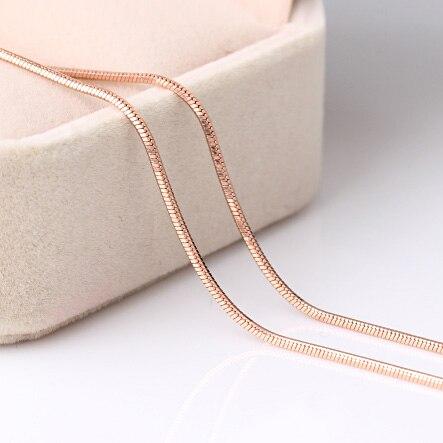 Envío de la alta calidad Color de rosa de oro 45 cm collar de cadena para las mu