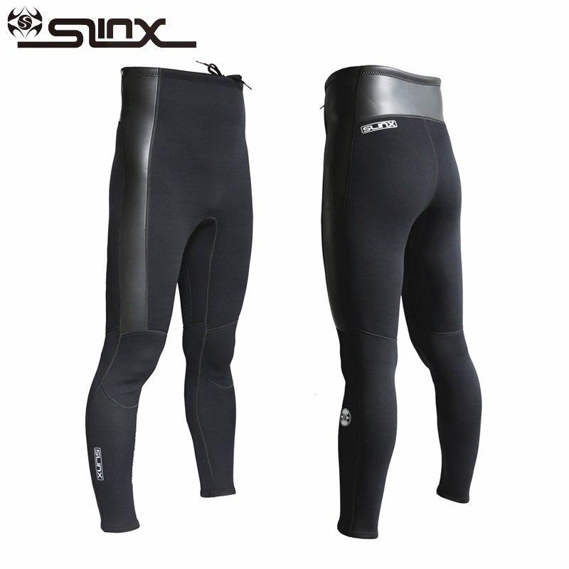 SLINX 2mm Neoprene Men Women Diving Pants High Waist Winter Swimming Warm Pants for Rowing Surfing Scuba Windsurfing Snorkeling