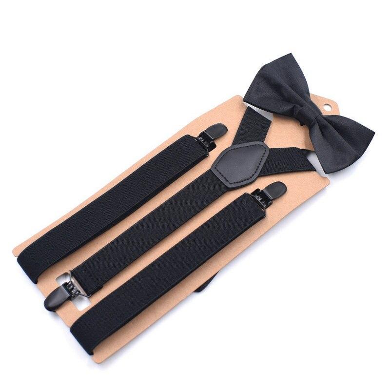 2018 3 Clips Adult Bow Tie Y Braces Men Shirt Stay Locking Button Suspenders Set Adjustable Trousers Bowtie Strap Garter Holder