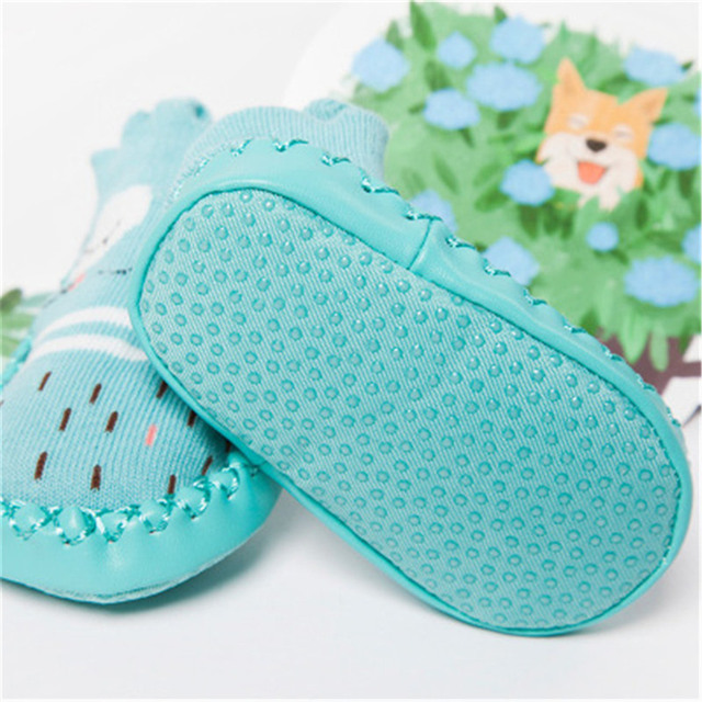 2019 Baby Foot Socks With Rubber Infant Sock For Newborn Baby Boys Girl Children Floor Socks Shoes Anti-Slip Soft Soles Sokken 5